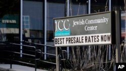 FILE - The Jewish Community Center is seen in Tarrytown, N.Y., Feb. 28, 2017. The latest in a wave of bomb threat hoaxes called into more than 20 Jewish community centers and schools across the country has again put administrators in the position of having to decide whether a threatening message on the other end of a phone line was enough to evacuate.