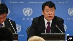 Kim In Ryong, ambassadeur nord-coréen adjoint à l'ONU, le 17 avril 2017.