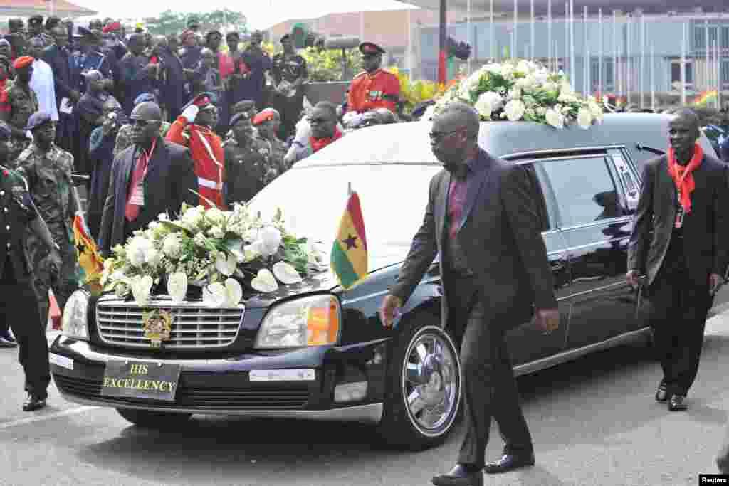 آنجہانی صدر جان ملز کا آخری سفر