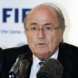 FIFA President Sepp Blatter speaks during a news conference in Doha (File)