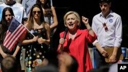 سخنرانی هیلاری کلینتون در جریان یک گردهمایی انتخاباتی در ایالت نیوهمشایر - ۱۲ تیر ۱۳۹۴