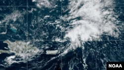 Tropical Storm Peter weakens as it passes North of Puerto Rico, Sept. 21, 2021.
