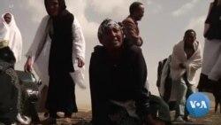 Emotion des familles sur le site de l'accident d'avion en Ethiopie
