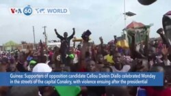 VOA60 Addunyaa - Supporters of opposition candidate Cellou Dalein Diallo celebrated in the capital of Conakry, Guinea