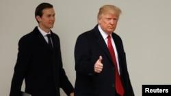 Президент США Дональд Трамп и советник президента Джаред Кушнер