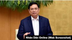"""Tân Thủ tướng Phạm Minh Chính, tại cuộc họp với Ngân hàng Nhà nước Việt Nam hôm 17/4 ở Hà Nội, cho biết rằng Đảng, Nhà nước và NHNH đã có những """"nỗ lực lớn"""" trong ngoại giao để được Mỹ cho ra khỏi danh sách các nước thao túng tiền tệ."""