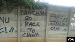 Graffiti has become part of life in Zimbabwe (Photo/Arthur Chigoriwa)