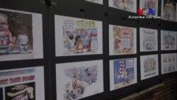 Başkanlık Yarışı Karikatür Sergisine Yansıdı