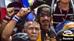 泰国反对派抗议者举行反政府示威。