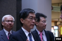 台湾环保署署长魏国彦 (美国之音钟辰芳拍摄)
