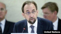 UN Human Rights Commissioner Zeid Ra'ad Al Hussein