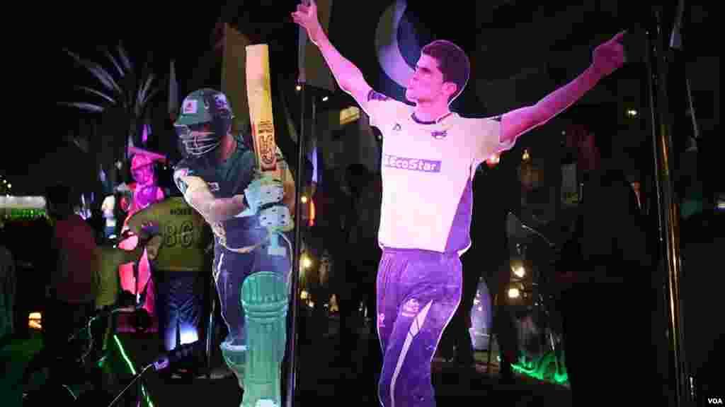 کراچی پی ایس ایل سے ایک دن قبل جشن کا سماں