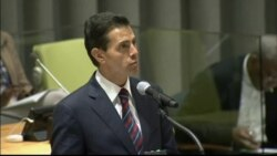 Mexican President Enrique Pena Nieto comments on migrant crisis at UNGA.