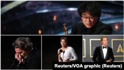 Bong Joon Ho, Joaquin Phoenixa, Rene Zellweger, BradPitt neki su od dobitnika Oscara. (Foto: Reuters)