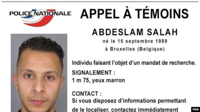 Ficha de requerimiento de Salah Abdeslam, quien se cree haya huido a Marruecos.
