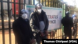 Zimbabwe Journalist Hopewell Chin'ono and Transform Zimbabwe Leader Jacob Ngarivhume