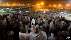 사우디아라비아의 메카로 몰려든 이슬람 성지순례객들의 모습 (자료사진)