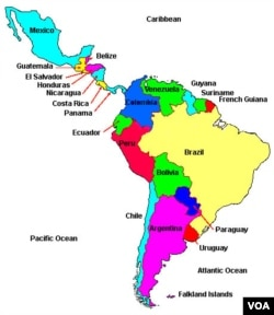 The many countries of Latin America