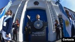 """Macri: """"Recibimos un Estado realmente castigado por la mentira y la corrupción""""."""