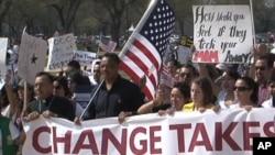 Immigration reform advocates march in Washington DC