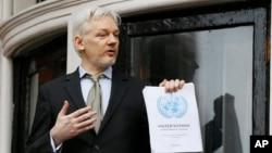 Julian Assange à l'ambassade d'Equateur à Londres le 5 février 2016.