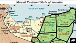 Map of the Puntland region of Somalia