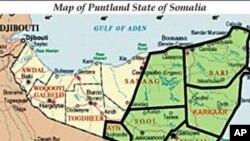 Map of the Puntland region of Somalia