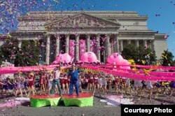 Here is the National Cherry Blossom Festival Parade in Washington, D.C. (File Photo)