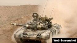 Tank birləşmələrinin təlimləri keçirilir