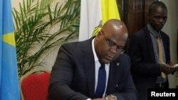 Rais wa DRC Felix Tshisekedi.