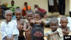 Des enfants de la pénindule de Bakassi