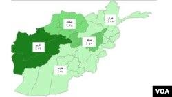 سطح نگرانی مردم ساحات مختلف افغانستان در مورد افزایش شورشگری طالبان متفاوت است