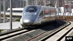 Tàu cao tốc mới tại nhà ga ở Bắc Kinh