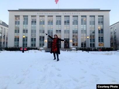 Armaya Doremi, mahasiswi S2 universitas Northeastern di Boston, Massachusets (dok: Armaya Doremi)