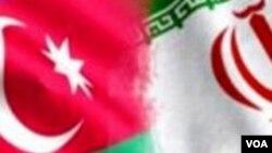 Azərbaycan və İran bayrağı