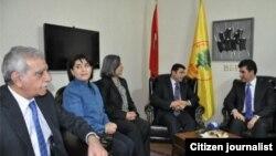 Serokwezîrê Herêma Kurdistanê Nêçîrvan Barzanî ji alîyê rêberên Kurdên Tirkîyê ve hate pêşwazî kirin