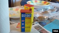 Old Bay, a popular local spice mixture created in Baltimore in 1939 by German immigrant Gustav Brunn.