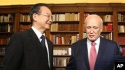 中国总理和希腊总统在会晤前