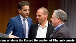 Les responsables grecs et européens, discutant du programme d'aide à la Grèce (AP)
