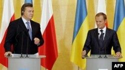 Президент України Віктор Янукович і прем'єр-міністр Польщі Дональд Туск
