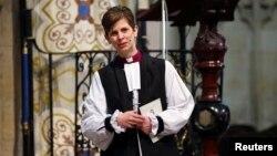 잉글랜드 성공회의 첫 여성 주교인 리비 레인 주교의 취임 서품식이 26일 요크 대성당에서 진행됐다.