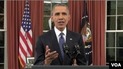 Predsednik Obama govori o borbi protiv Islamske države.