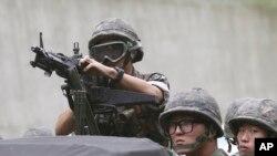 미한 연합훈련에 참가 중인 한국군 장병들 (자료사진)