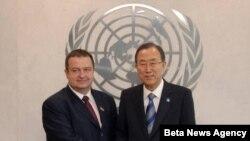 Ivica Dačić i generalni sekretar UN Ban Ki Mun