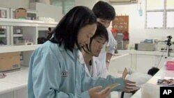 Women Scientists working in a science research lab in Jakarta