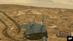 Illustration du robot Opportunity sur Mars (Nasa)