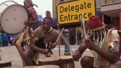 Traditional Shangaan dancers perform at an international meeting in this file photo from Johannesburg, South Africa