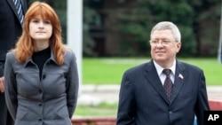 布提娜和俄罗斯托尔辛在莫斯科。(2012年9月7日)