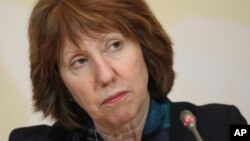 EU foreign policy chief Catherine Ashton, April 6, 2013 file photo.