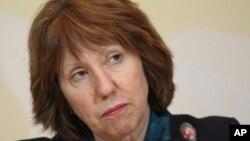 Trưởng ban chính sách đối ngoại EU Catherine Ashton.